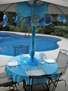 Under the Sea, Mermaid or Fish Party all make great pool party themes. See pictures and get ideas for decorations and fun pool party games.