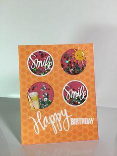 June 2015 Simon Says Stamp Card Kit Smile Shaker Birthday