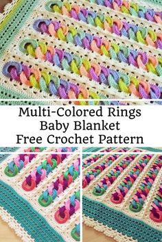 Fabulous Multi-Colored Rings Baby Blanket Free Crochet Pattern