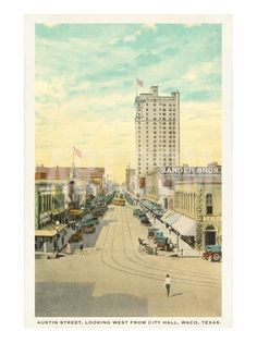Austin Street, Waco, Texas Premium Poster at Art.com Want this in my house!
