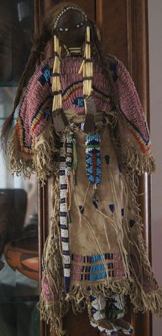 Lakota Beaded and Quilled Doll 1880-1890 from uchizonogallery on Ruby Lane