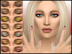 joannebernice's High Fashion Runway Eyeshadow | Sims 4 Updates -♦- Sims Finds & Sims Must Haves -♦- Free Sims Downloads