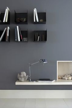This durable dark grey paint, originally used as a metal paint, is ideal for contemporary grey walls and wood. Browse our range of luxury neutral paint online. Grey Paint Colors, Wall Colors, Gray Paint, Interior Walls, Interior And Exterior, Interior Design, Little Greene Paint, Traditional Paint, White Picture Frames