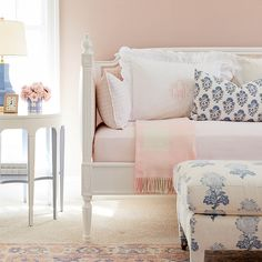Lovely Louis Upholstered Daybed So much love for this room featuring our Lovely Louis Daybed in the Daybed Canopy, Upholstered Daybed, Steel Bed Frame, Bed Company, Beautiful Homes, House Beautiful, Cleaning Wood, Bedroom Furniture, Home Accessories