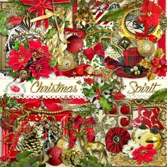 A beautiful Christmas themed scrapbook kit filled with all the beautiful goodness needed for all your holiday projects and scrapbooks.