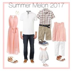 """What to wear for summer family photos """"Summer Melon 2017"""" by ablaze-photography on Polyvore featuring Joe's Jeans, Old Navy and Witchery"""