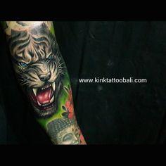 Tiger Tattoo done at Kink Tattoo Bali Studio