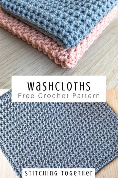 Looking for the perfect housewarming gift? These crochet washcloths are beautiful, easy, and versatile. They can be used as washcloths or dishcloths and are sure to be a welcomed gift. Head to the free pattern to get started now. Knitted Washcloth Patterns, Knitted Washcloths, Washcloth Crochet, Wash Cloth Crochet Pattern, Free Easy Crochet Patterns, Crochet Dish Towels, Dishcloth Knitting Patterns, Baby Washcloth, Crochet Ideas