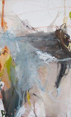 PAYSAGE-FRONTIERE I, Laurence Garnesson, 130 x 89 cm, huile sur toile.