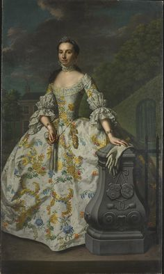 Portrait of Charlotte Beatrix Strick van Linschoten by Mattheus Verheyden, ca 1755 the Netherlands, Rijksmuseum Amsterdam