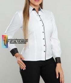 5964127a588 Uniformes Ejecutivos Para Dama, Uniformes Para Oficina, Blusas Blancas,  Blusas Camisas, Chaquetas