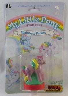 My Little Pony Rubber Stamp Vintage 1985 Hasbro Rainbow Pony NIP | eBay