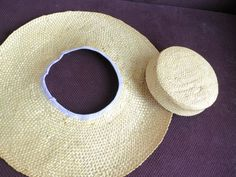 Tutorial: How to turn a straw sunhat into an 18th century bergére | The Dreamstress