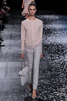 Nina Ricci - Spring 2013 RTW - #PFW. I love the colour of this sweater...a beautiful year-round style.