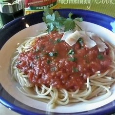 Spaghetti with Home Made Sauce by WineladyCooks