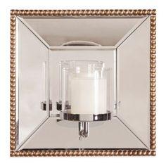 Howard Elliott® Lydia Mirror with Candle Holder - BedBathandBeyond.com