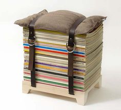 stack up your old magazines, strap them up and it is a stool!