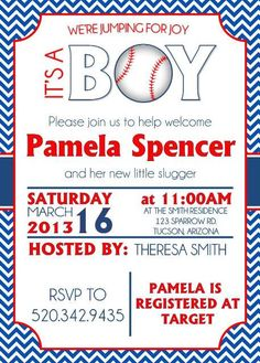 Printable Baby Shower Invitations Baseball By Pamelasdigitalprints 10 00