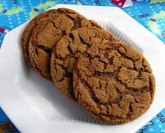 "Chewy gingersnaps.  You can make the dough ahead and freeze in balls for all of your cookie ""emergencies.""  YUM"