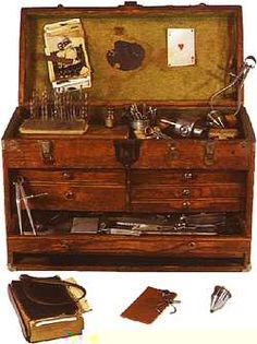 Machinist's tool chest, about 1949. Nearly completely like my dad's! ***Research for possible future project.