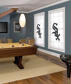 Sox baseball custom graphic shades - Curtain Call Creations