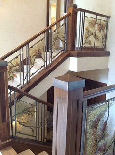 Crystal Glass Studio - Architectural Glass, Lighting, Giftware :: Fused Glass Iron Railing