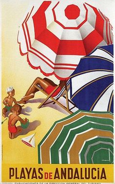 Playas de Andalucia #travel #poster by Marcias J. Morell 1935