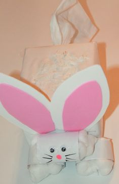 Puffs Easter Bunny: Tissue Box Challenge | hands on : as we grow