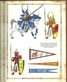 Uniforms & Heraldry of the High Elven Dragon Knights