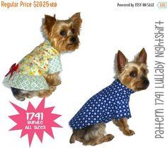 Lullaby Dog Pajamas Pattern 1741 * Bundle All Sizes * Dog Clothes Sewing Pattern…