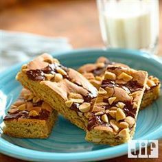 Chocolate Swirl Peanut Butter Bars from Pillsbury® Baking Sweet Recipes, Snack Recipes, Dessert Recipes, Snacks, Desserts, Dessert Ideas, Jif Peanut Butter, Chocolate Swirl, Chocolate Cakes