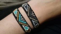 Handgeweven kralenarmbandje met waxkoord van Suusjabeads op Etsy
