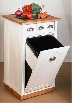 Beau Venture Horizon Butcher Block Bin Kitchen Island, White   Traditional    Kitchen Islands And Kitchen Carts   HomeFurnitureShowroom