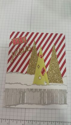 Stampin' Up! demonstrator Jet M's project showing a fun alternate use for the Watercolor Winter Simply Created Card Kit.