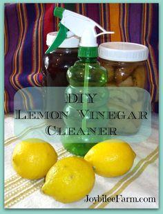 Lemon vinegar cleaner
