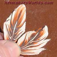 Orange Whip feather cane
