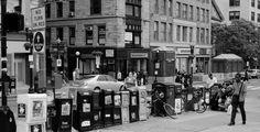 Abundance of Free newspapers on Park Street in Boston