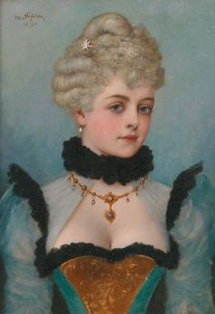 Portrait of a lady with necklace, Moritz Stifter (1857-1905)