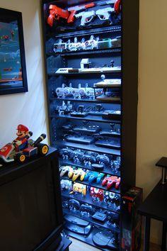 Video Game Controller Shelves via Reddit