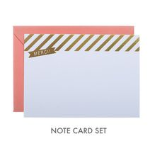 """<3 this """"Merci"""" note card set, as spotted in the new Rue Magazine #note #card #rue"""