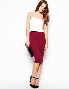 Image 1 ofAX Paris Jersey Pencil Skirt
