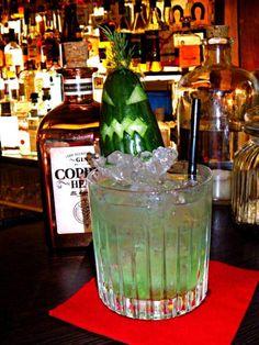 Cocktailspecial zu Halloween - der Green Devil