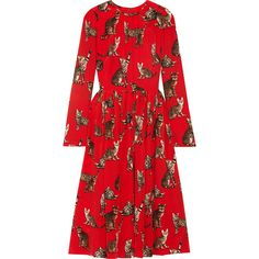 7f63139cd0af Dolce   Gabbana Printed silk crepe de chine dress (18.550 DKK) ❤ liked on