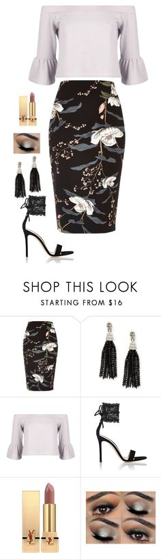 """Untitled #762"" by alwateenhosam on Polyvore featuring River Island, Oscar de la Renta, Boohoo, Gianvito Rossi and Yves Saint Laurent"