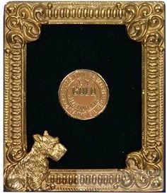 5b54b9c9a0b 18kt Museum Gold Fine Vermeil over Pewter PUPPY by Elias Artmetal® -  Picture Frames