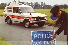 Believed to be a Range Rover Vigilant, designed especially for the emergency services by Radio Telecommunications of Blackpool. The vehicle is not thought to have seen operational service with any UK police force, although extensively produced as a toy in police, fire and ambulance livery. Range Rover 1970, Range Rover Jeep, Range Rover Classic, Range Rovers, Police Cars, Police Vehicles, Military Vehicles, Advanced Driving, Toyota Fj Cruiser