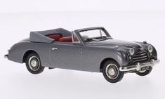 Jensen Interceptor 4-seater Convertible, metallic-grey, RHD, 1954, Model Car, Ready-made, Brooklin 1:43