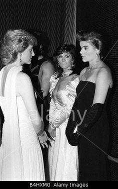 Princess Diana with Margot Kidder and Mariel Hemingway