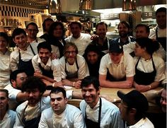 27 international chefs surprise Wylie Dufrense with a tribute dinner at wd~50.