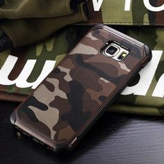 Design 2in1 Hybrid Durable Camouflage Silicon +PC Phone Cases For Samsung Galaxy S7/ S6 Edge  Note 4 5 Case Uniform Back Cover